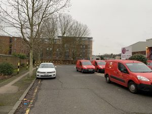 Royal Mail Vehicles Parked on Station Road