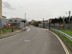 Entrance to Bush Industrial Estate looking up Station Road towards Junction Road